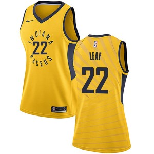 Nike Indiana Pacers Swingman Gold T.J. Leaf Jersey - Statement Edition - Women's