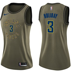 Nike Indiana Pacers Swingman Green Aaron Holiday Salute to Service Jersey - Women's