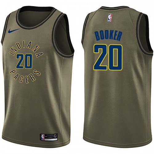 Nike Indiana Pacers Swingman Green Trevor Booker Salute to Service Jersey - Men's